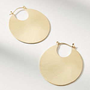 NWT Anthropologie Cleo Hoop Earrings